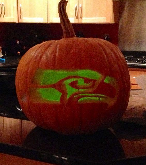 Seahawks Pumpkin Stencil Halloween