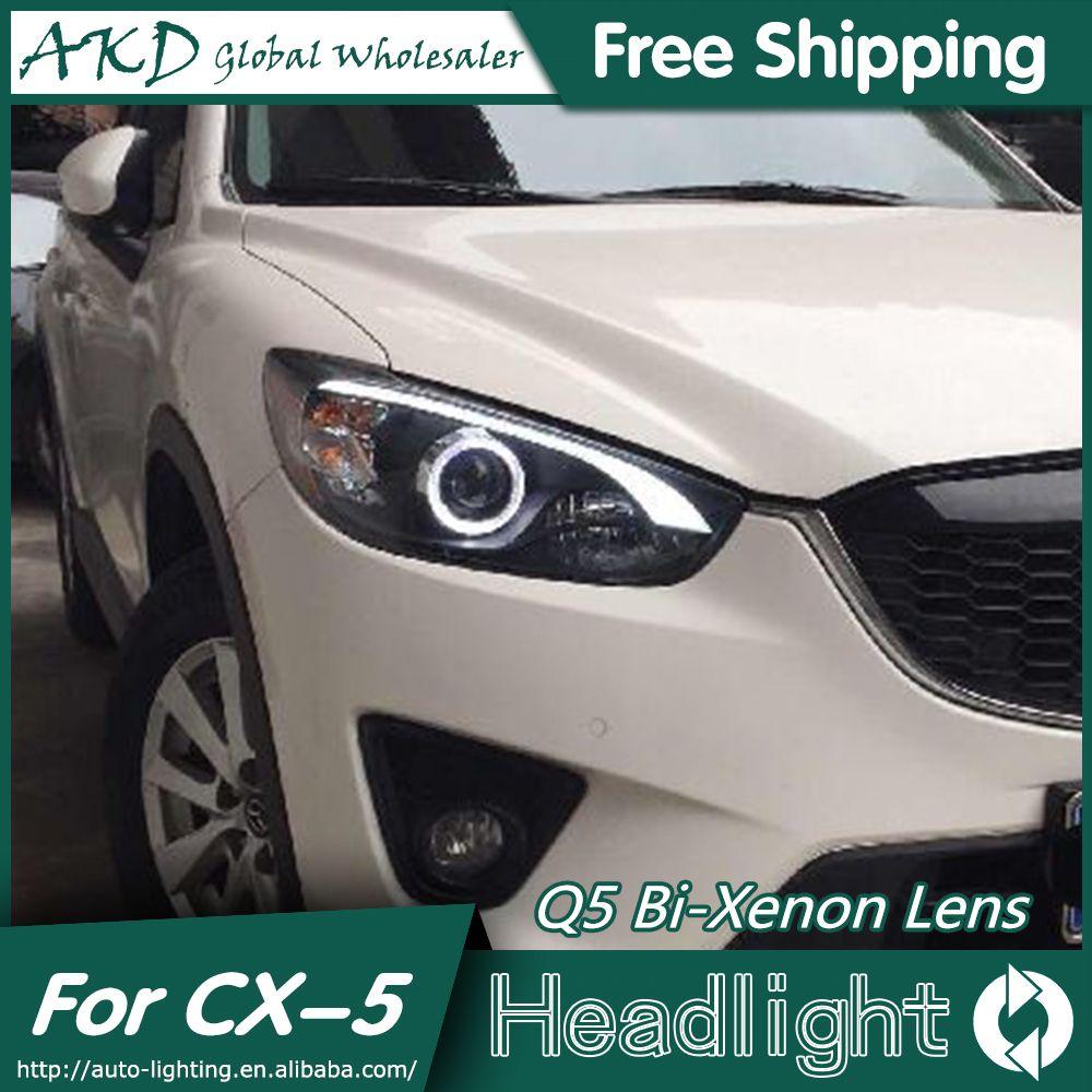 Akd Car Styling For Mazda Cx 5 Headlights 2011 2015 Cx5 Led Headlight Drl Bi Xenon Lens High Low Beam Parking Fog Lamp Car Car Lights Led Headlights