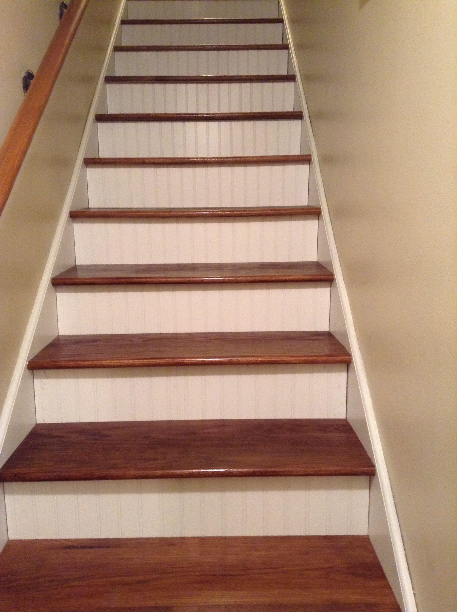 Best Oak Stair Treads And Bead Board Kickers Pretty Good Match 400 x 300