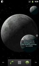 A 3D simulation application displaying moon's current phases. Android Moon Phase Pro tracks your every move to bring you the best Moon Experience!