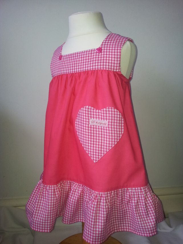 Cerise square neck dress Age 1 £10.00