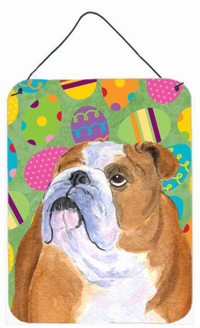 Bulldog English Easter Eggtravaganza Wall or Door Hanging Prints