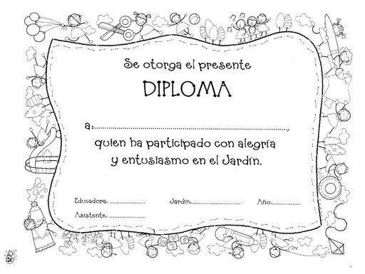 DIPLOMAS ESCOLARES PARA NIÑOS Etiquetas Pinterest Diplomas