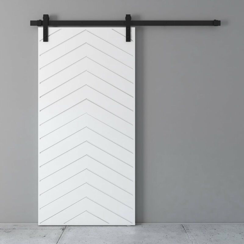 Paneled Wood Painted Barn Door With Installation Hardware Kit Wood Barn Door Glass Barn Doors Barn Style Doors