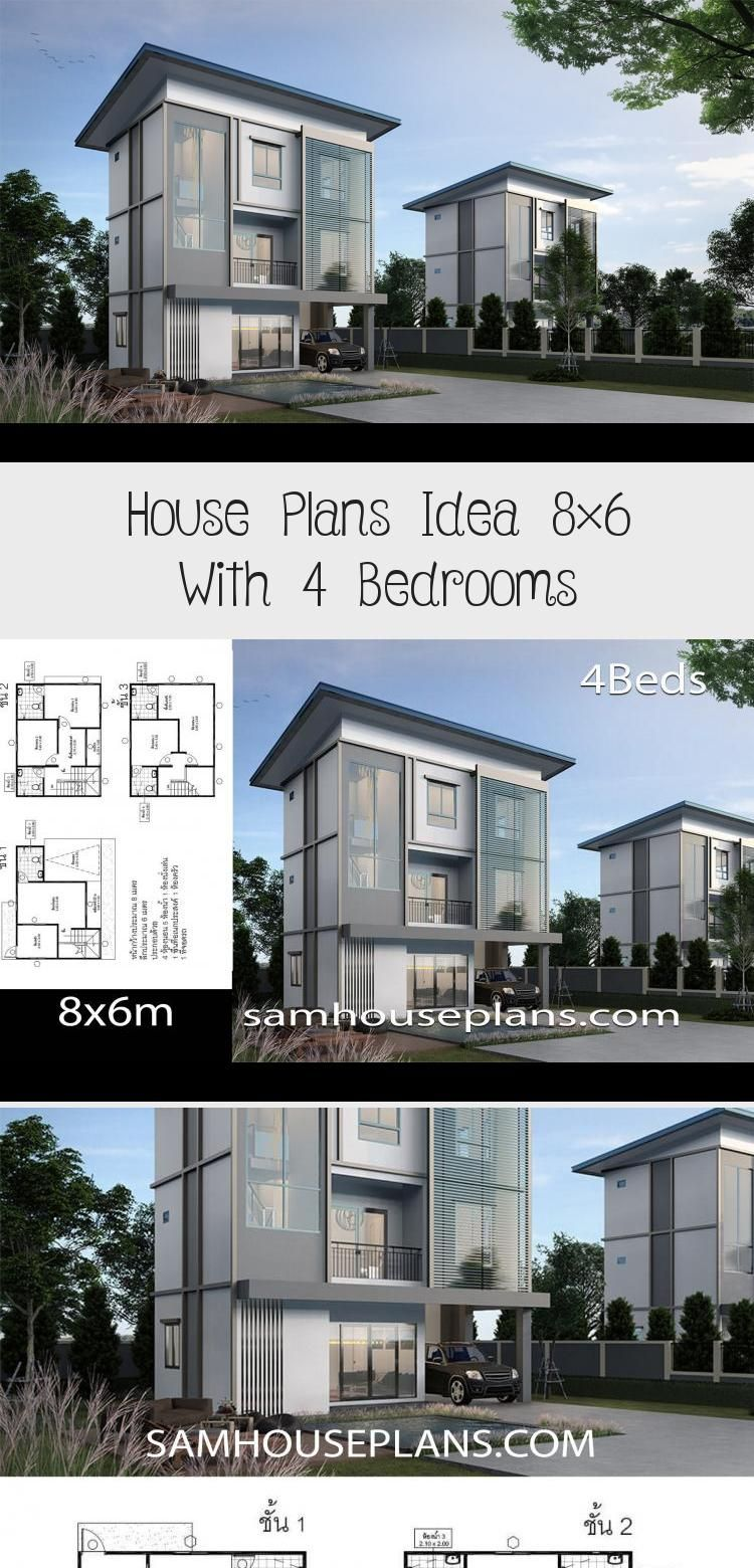House Plans Idea 8x6 With 4 Bedrooms Sam House Plans Floorplans4bedroomindian Floorplans4bedroomranch Floorplans4be In 2020 House Plans Floor Plan 4 Bedroom House