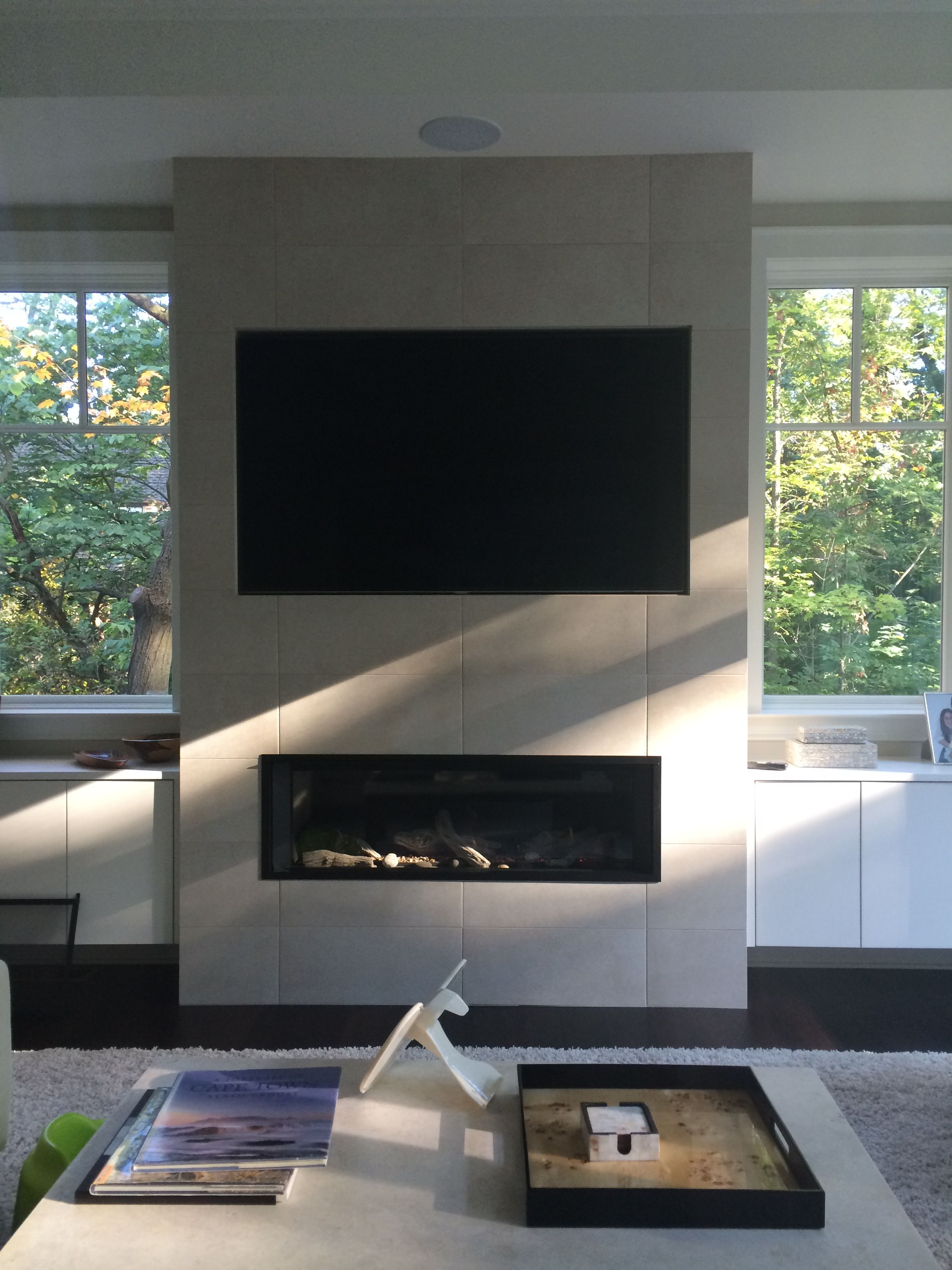 Valor L2 1700 Linear Direct Vent Fireplace. Installed on ...