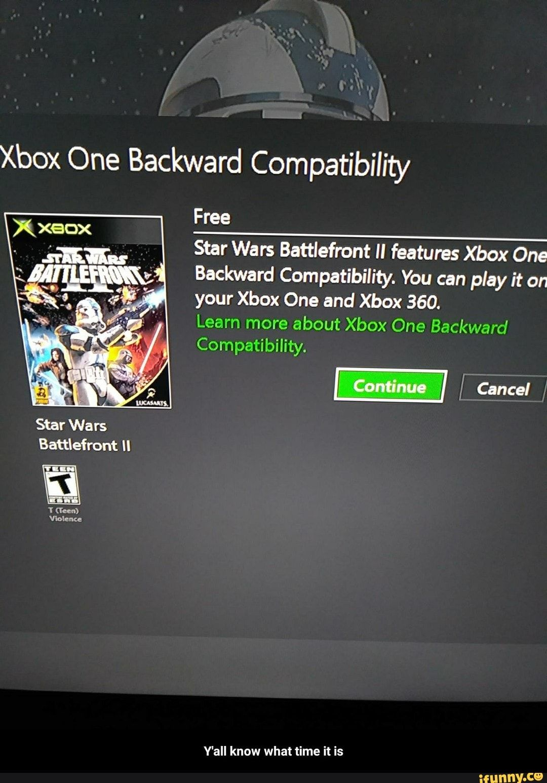 Xbox One Backward Compatibility Free & Star Wars Battlefront