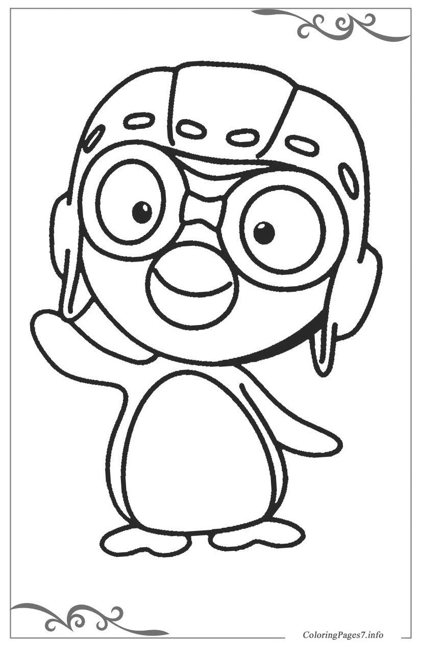 Pororo The Little Penguin Printable Coloring Pages For Kids Coloring Books Coloring Pages Batman Coloring Pages