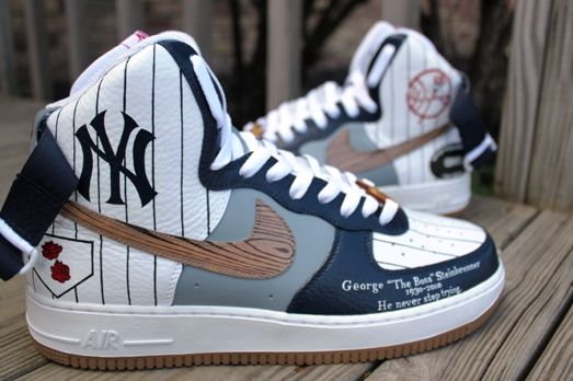 New York Yankees Nike Air Force Ones | Hot shoes in 2019 ...