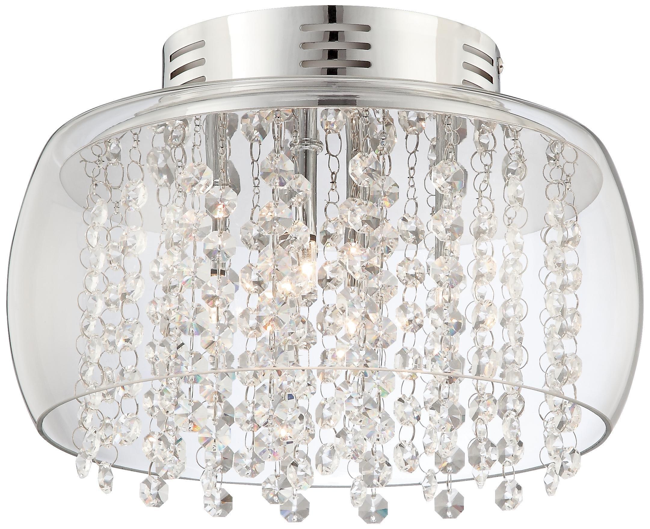 Possini euro crystal rainfall 11w glass drum ceiling light possini crystal rainfall glass drum 11 wide ceiling light lampsplus arubaitofo Choice Image