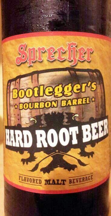 Sprecher Hard Root Beer Bootlegger S Bourbon Barrel Hard Root Beer Flavored Drinks Root Beer