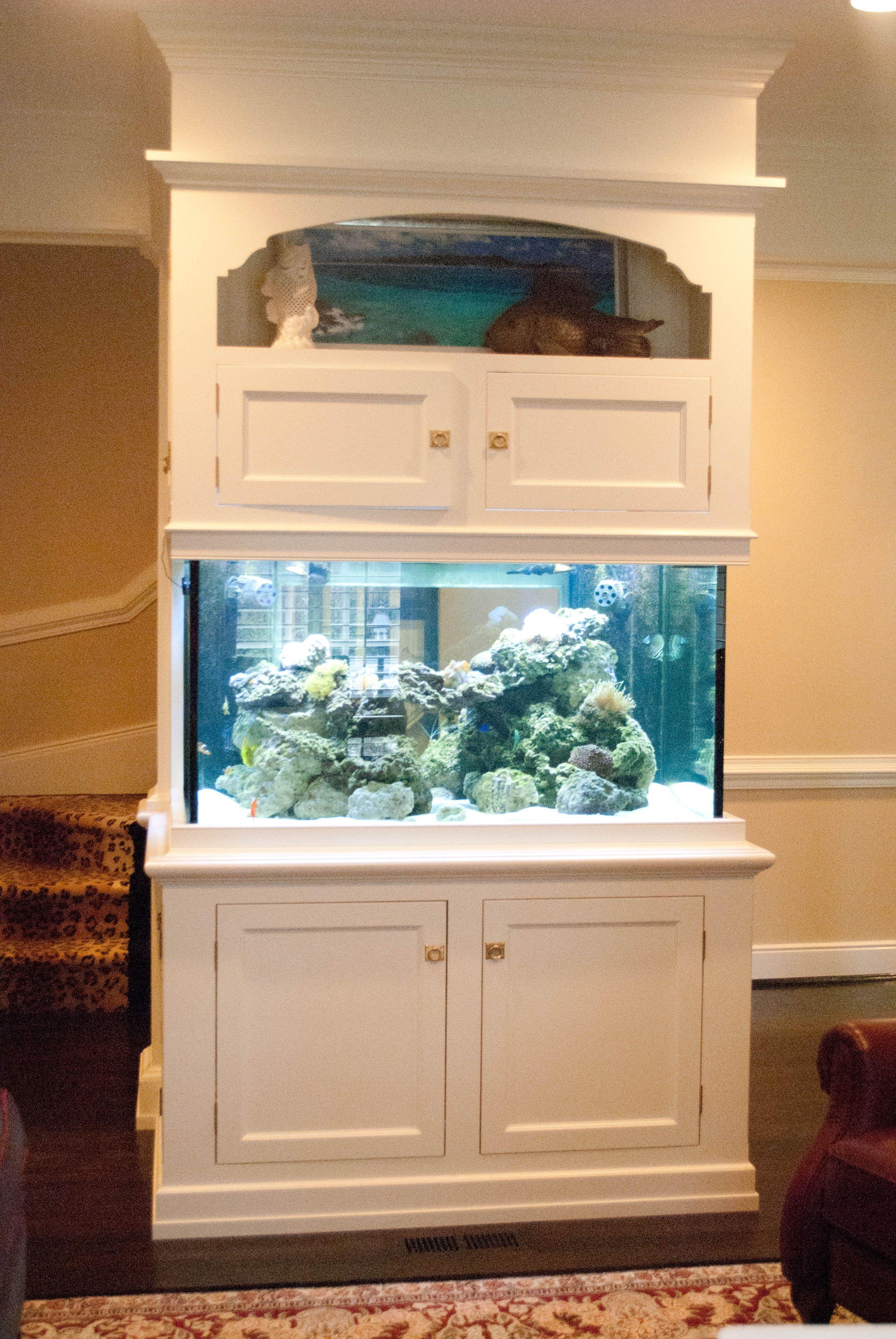 White Cabinets Diy Fish Tank Fish Tank Diy Tank