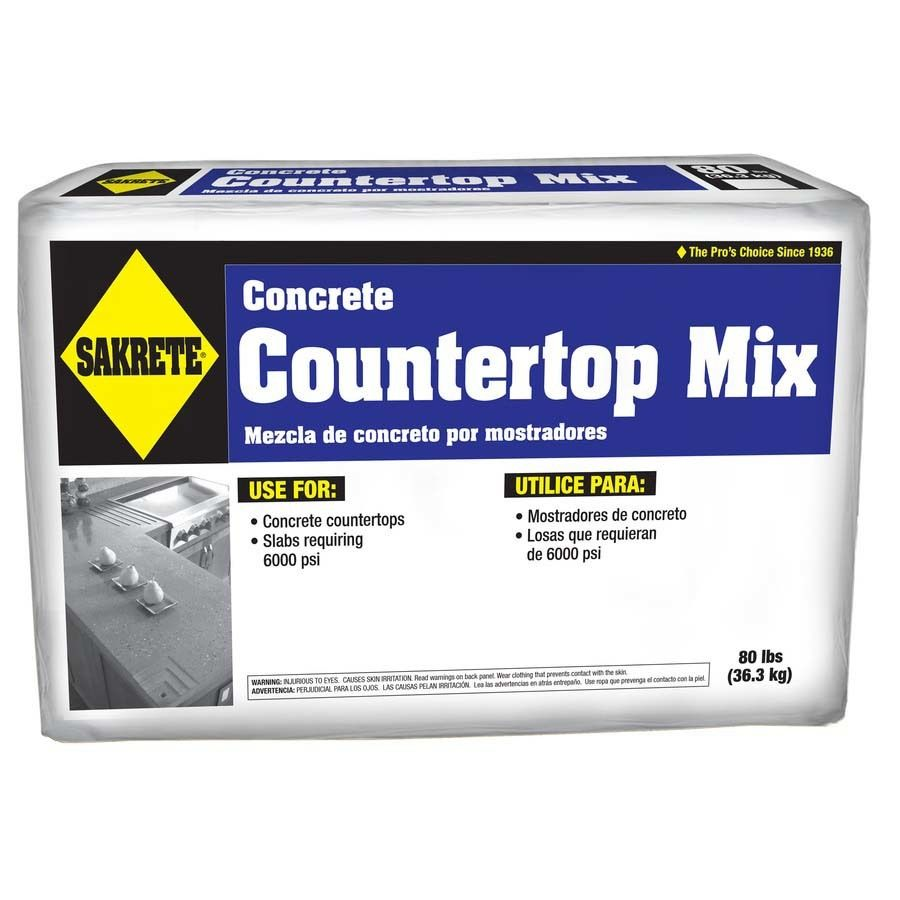 Sakrete Countertop 80 Lb High Strength Concrete Mix 65200600 In 2020 With Images High Strength Concrete