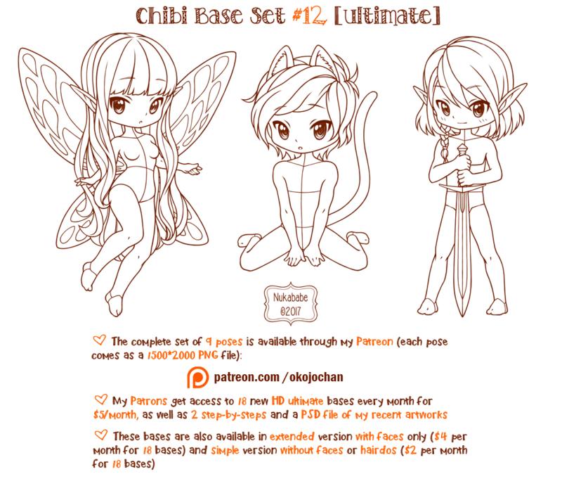 Chibi Pose Reference (Ultimate Chibi Base Set 12) by