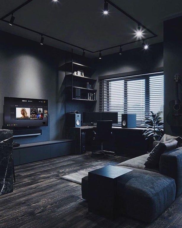 Noob question; where/how in the world does one find an apartment with dark grey color walls like this?