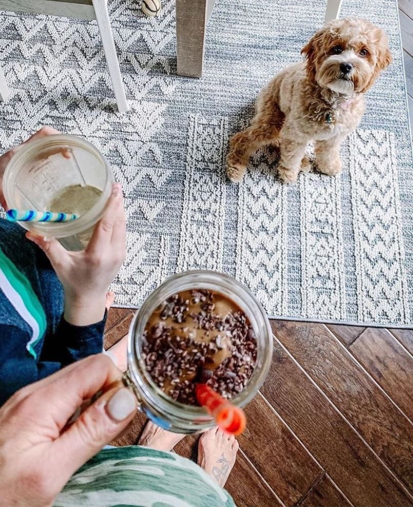 Healthy food🌱adorable pup🐶and gorgeous rug! We're loving this📸from @lorimiggins, who owns our Thorntonville Area Rug! #boutiquerugs #arearug #modernrugs #farmhousedecor #farmhousestyle #moderndecor #modernstyle #styleyourspace #rugsofinstagram #designerrug #rugs #handmaderugs #ruglove #homedesign #interiorstyle #modernhome #ourhome #instagood #love #dogsofinstagram #reviews #realhomesofinstagram #roominspo #home #farmhousefamily #farmhouse #diningroomdesign #healthyliving #healthyeating