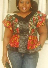 Sequenced and patterned ankara top