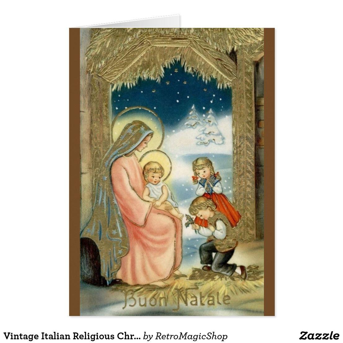 Vintage italian religious christmas greeting card inspirational vintage italian religious christmas greeting card kristyandbryce Images