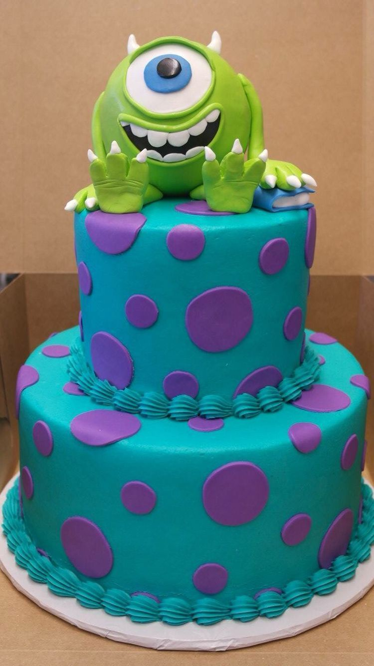 Excellent 25 Marvelous Picture Of Monsters Inc Birthday Cake With Images Personalised Birthday Cards Epsylily Jamesorg