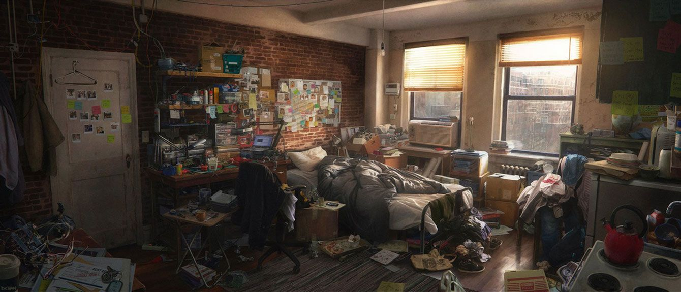 Peter Parker Apartment from Spider-Man (PS4) | Environment ...