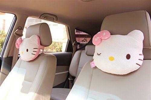 plush toy stitch doll car seat headrest vehicle neck rest pillow cushion 1pair