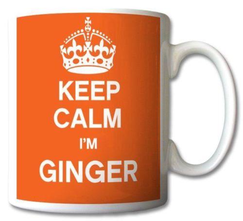 keep calm i'm ginger coffee mug
