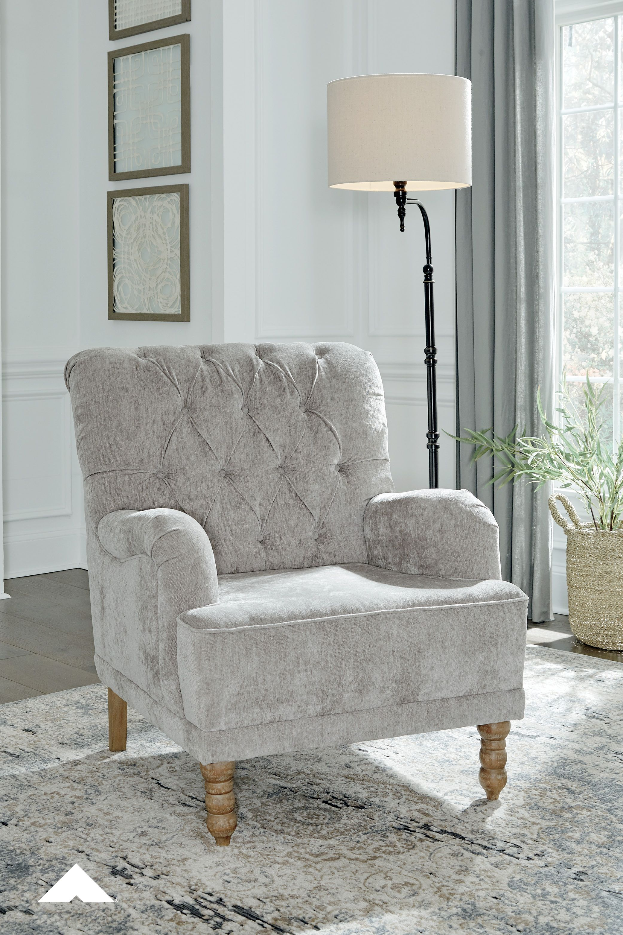 Dinara Dove Gray Accent Chair By Ashley Furniture Give Your
