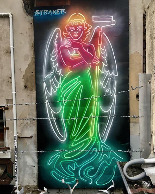 Straker in Perth, Australia, 2018 Neon signs, Neon