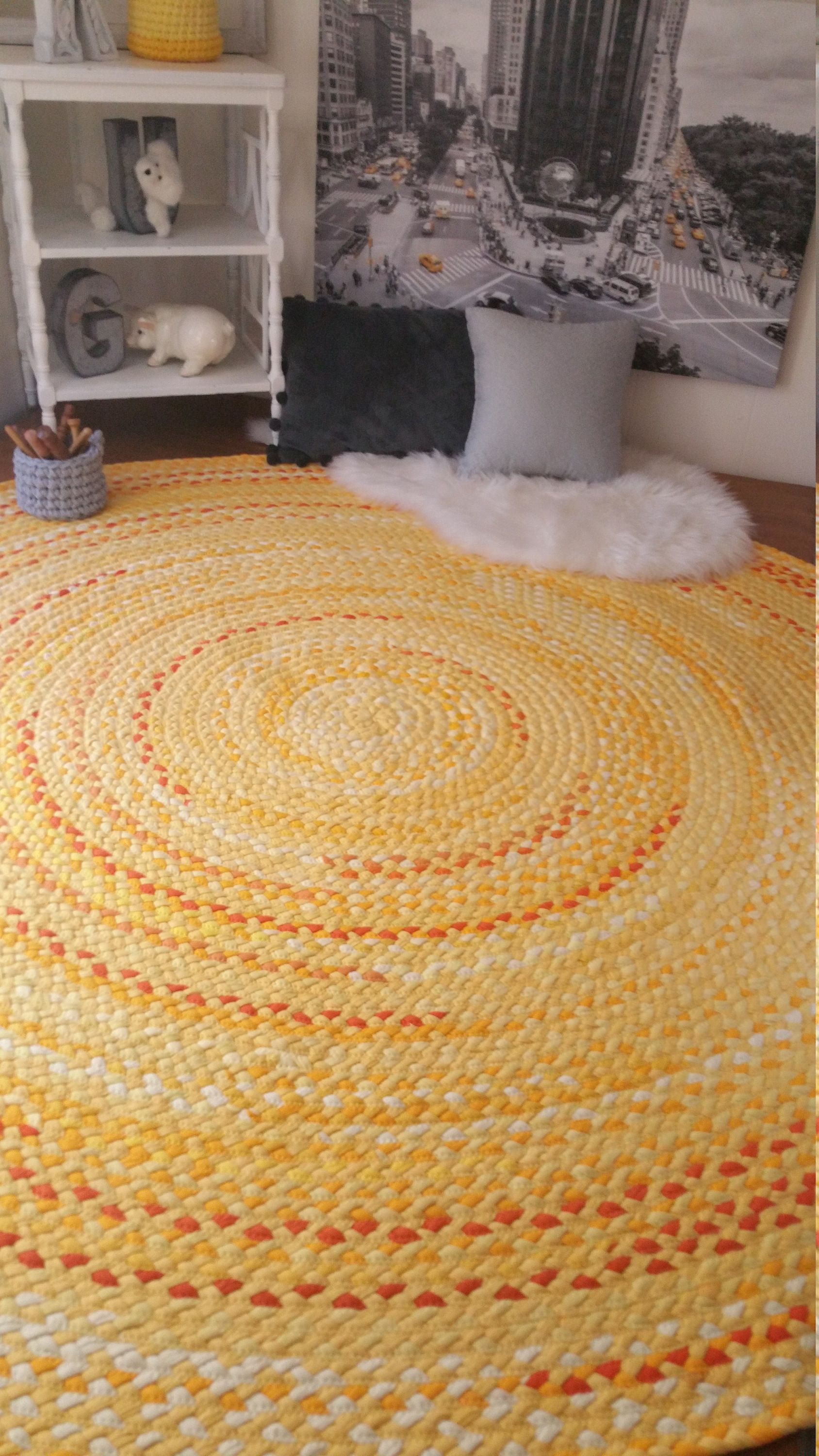 Yellow Braided Rug Made To Order With