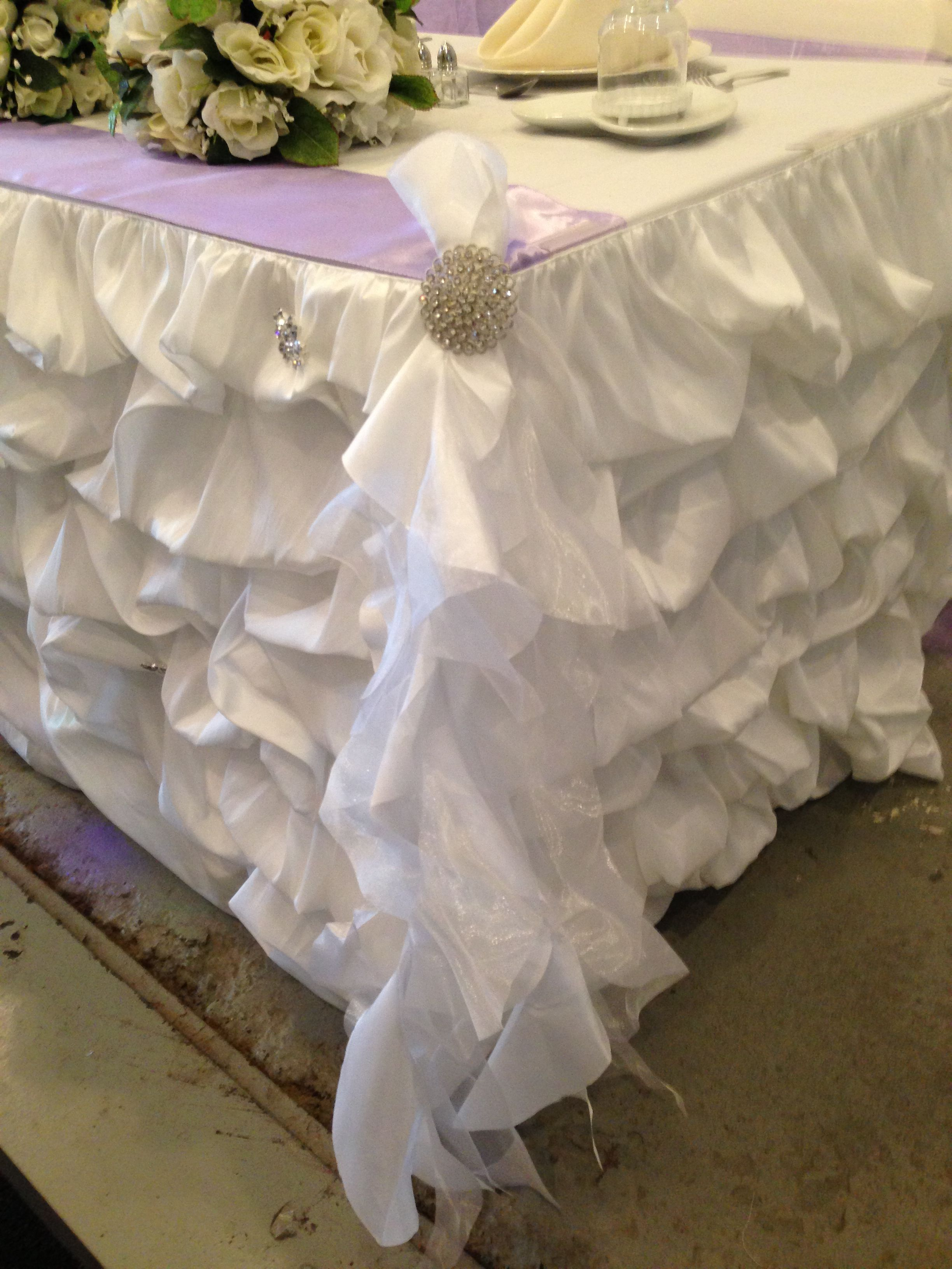 Ordinaire Ruched Table Skirt With Tutu Tie And Buckle