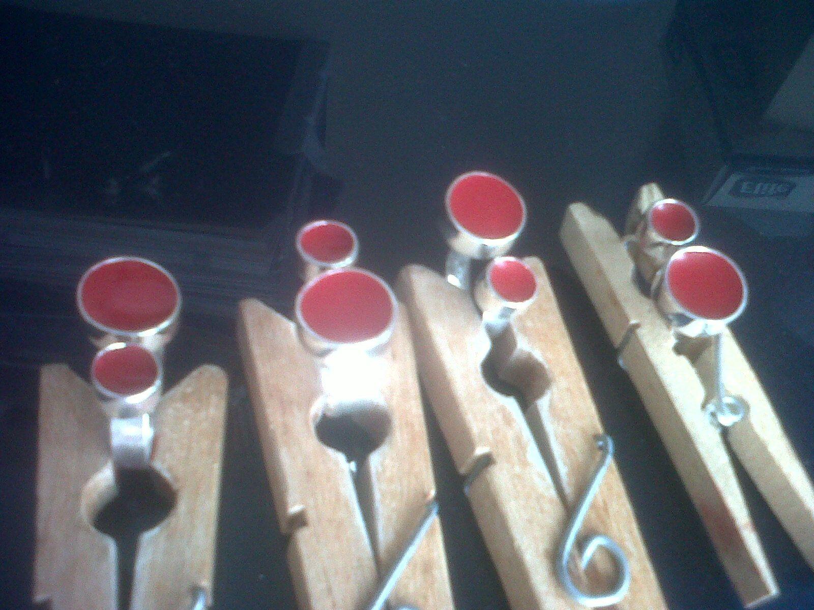 anillos de plata con resina roja