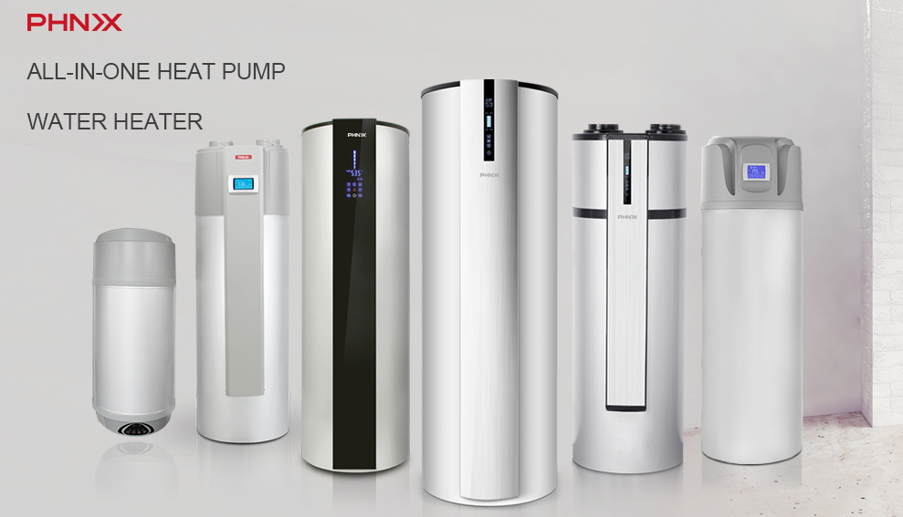 Phnix All In One Heat Pump Water Heater Is Your Best Choice For Residential Hot Water Multiple Shape Design To Better Meet Yo Heat Pump Water Heater Heat Pump