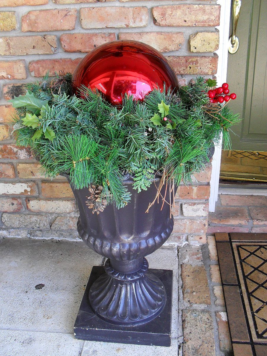"Christmas Urn Decorations For Outdoors Jack Stacks Adding A ""Cute Spook"" To Your Garden Urns  Urn Xmas"