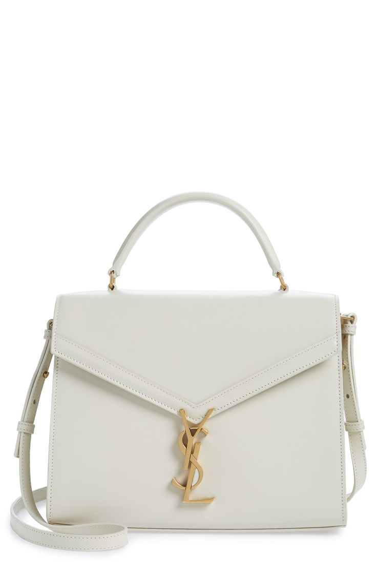 Saint Laurent Medium Cassandra Calfskin Leather Satchel | Nordstrom