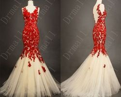Online Shop 2014 New Beautiful Red Lace Prom Dresses Backless Bridesmaid Dress Party Gown Women Cute Dress|Aliexpress Mobile