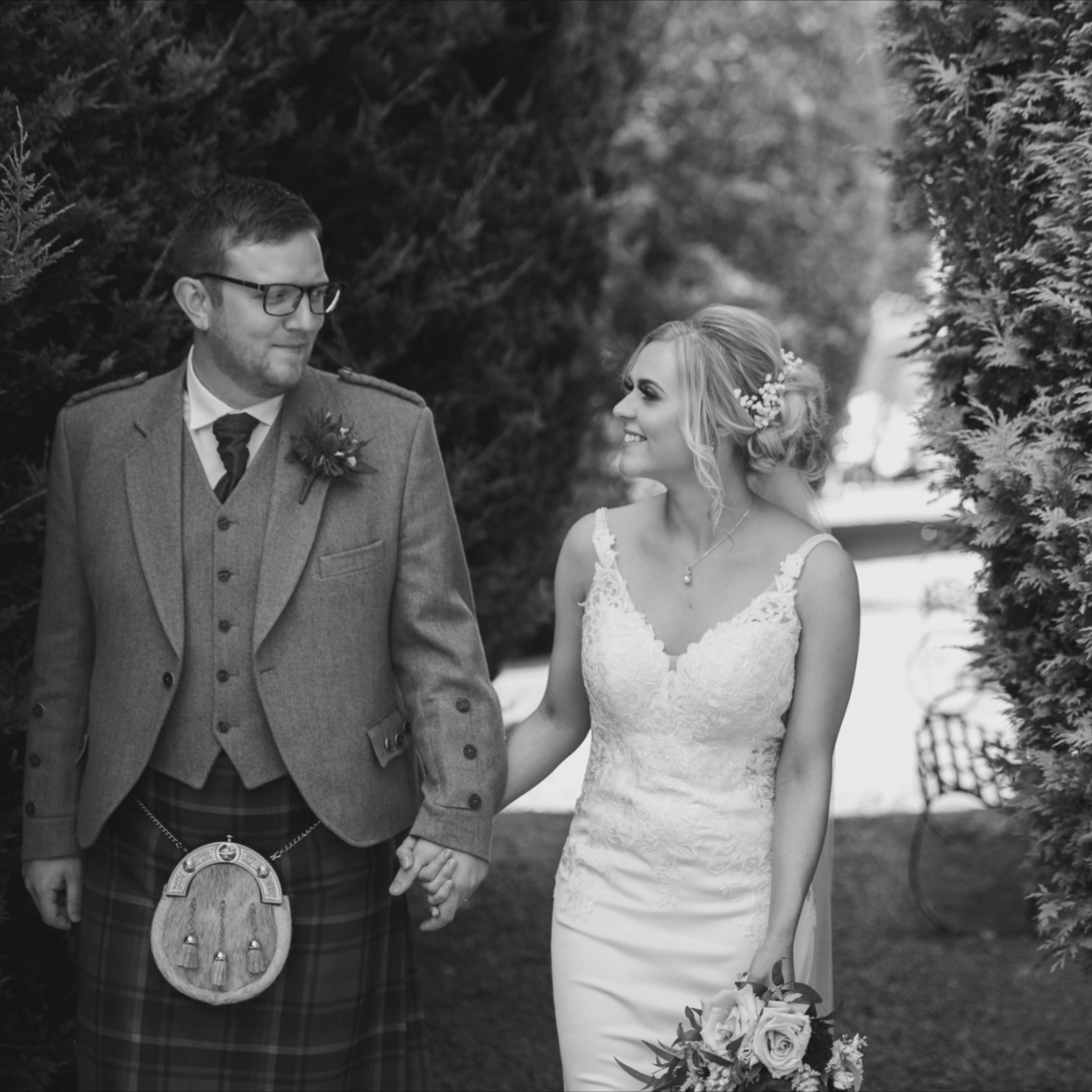 Brig O'Doon Beauty: Eleganza Real Bride Emma Wears Essense