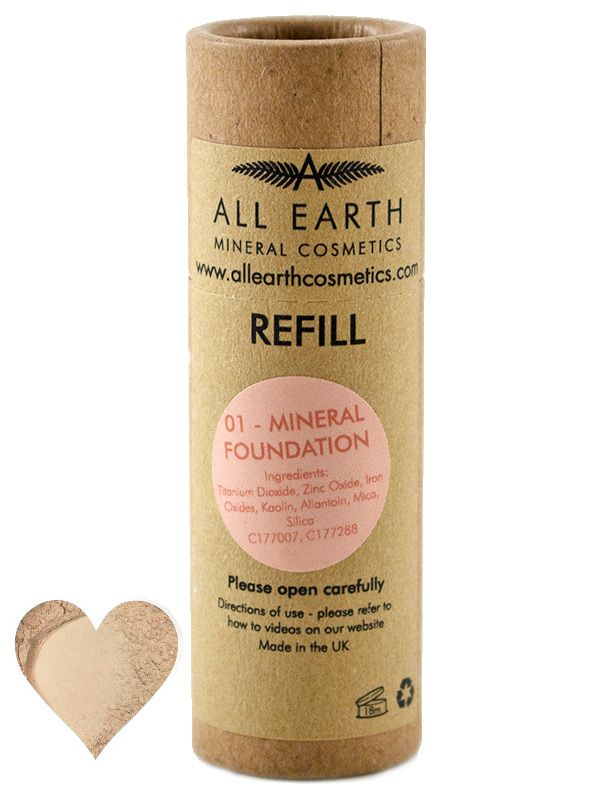 Mineral Foundation shade 01, Refill 8g (All Earth Mineral Cosmetics)