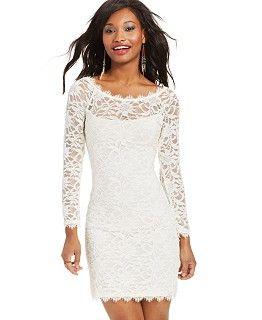 White Winter Dresses for Juniors