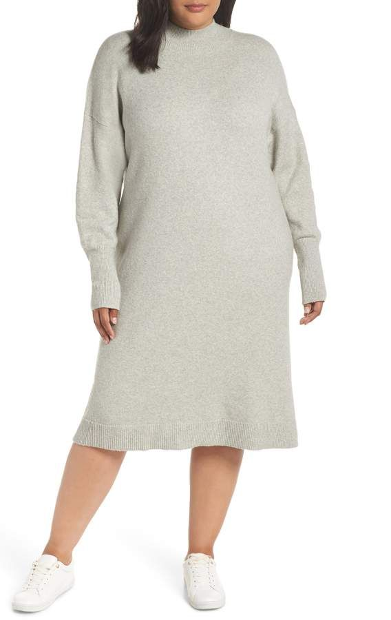 2c3e0a68b922b BP Mock Neck Sweater Dress