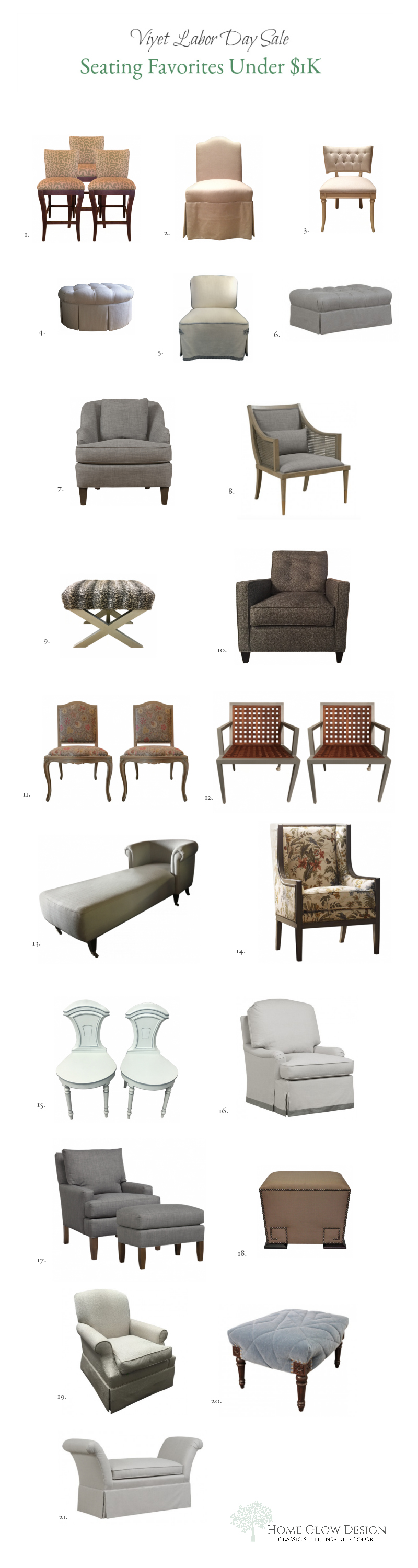 Designer Consignment Labor Day Seating Sale 2017