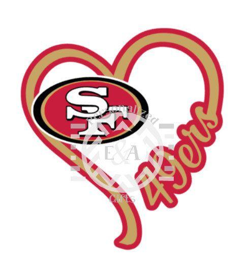 "San Francisco 49ers Heart NFL Sport Car Bumper Sticker Decal /""SIZES/'/'"