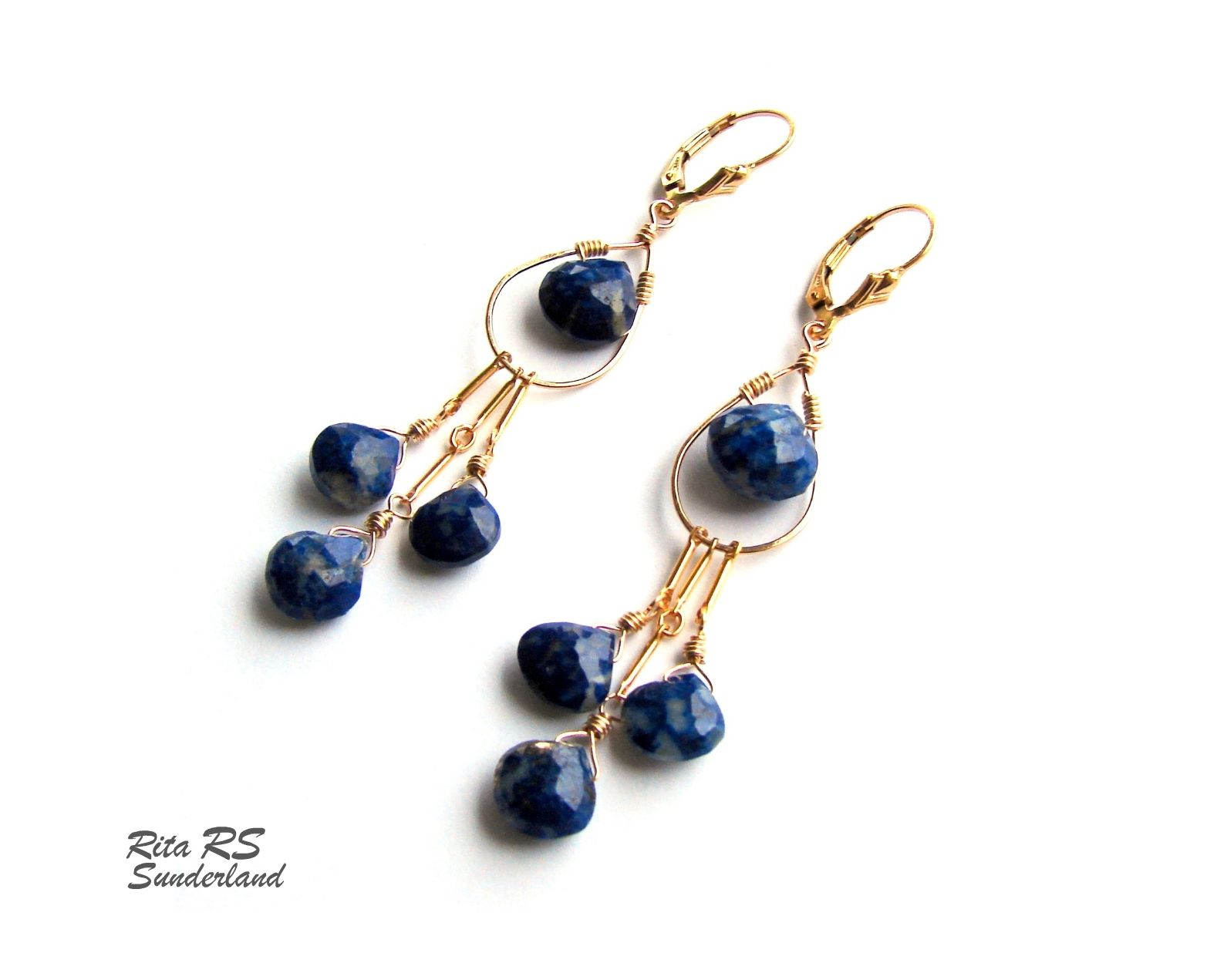 front lo on lazuli jewellery melissa earring drop gold earrings product lapis clip pebble capri pearl