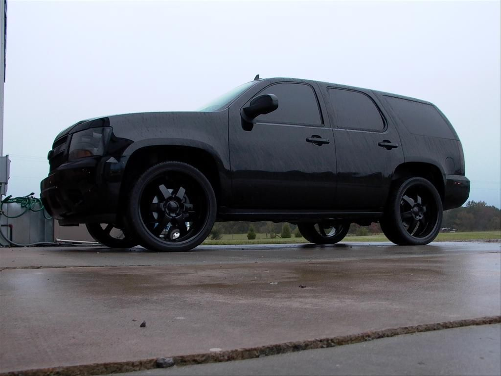I really want a blacked out tahoe grayson stebbins womack ahhhhhh