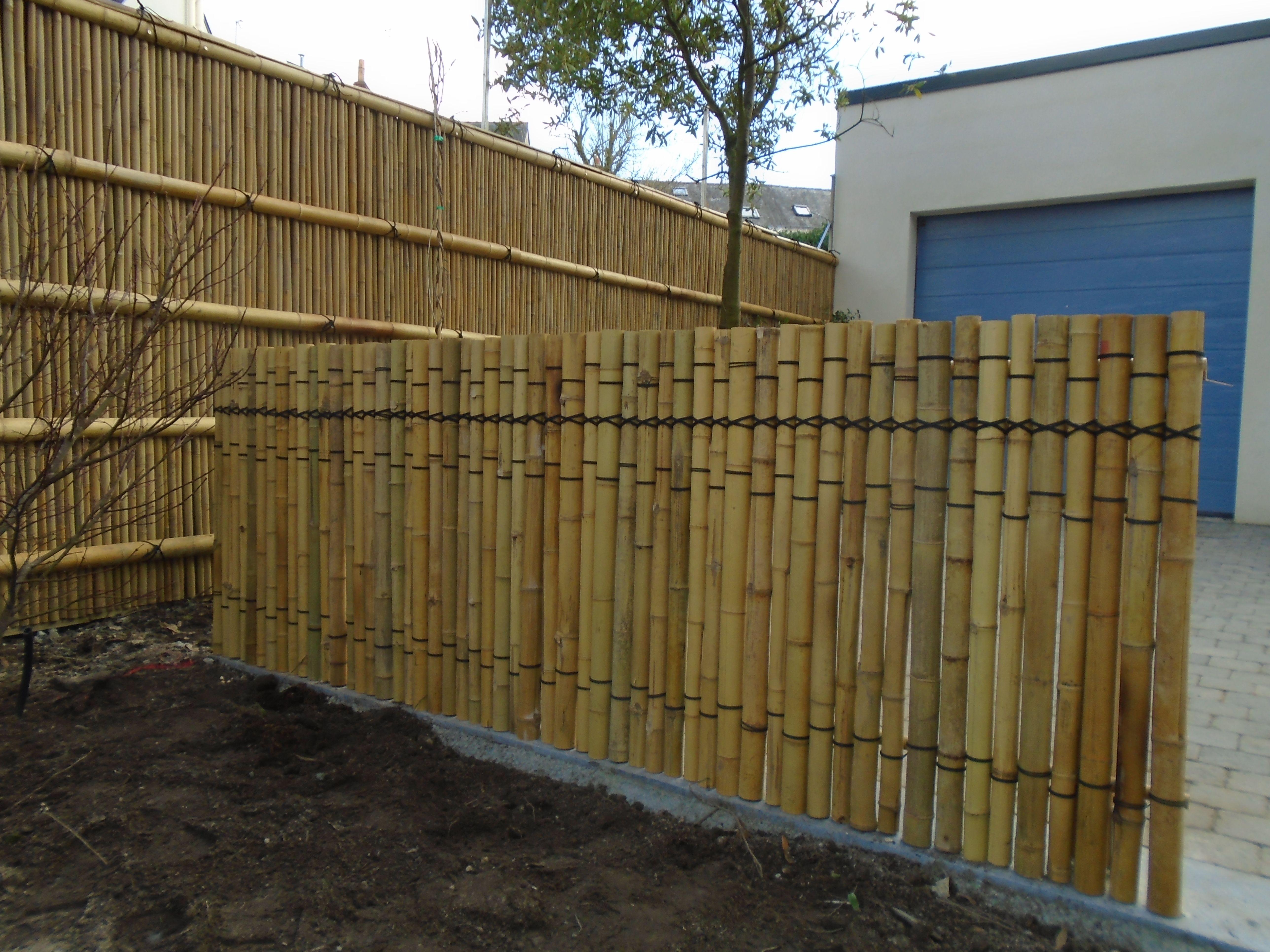 Barrière de jardin japonais en bambou, clôture, palissade, brise vue ...