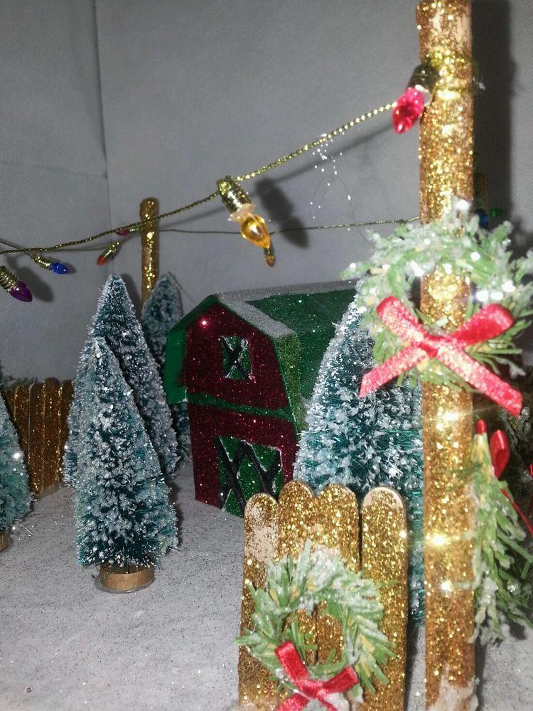 Glitter tree lot
