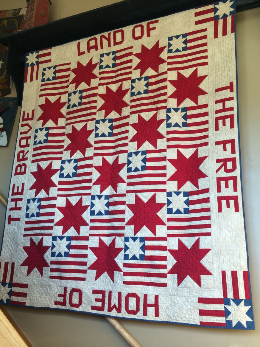 Piece and Comfort Challenge Quilts, Patriotic quilts