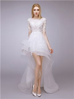 Asymmetrical Short Wedding Dresses