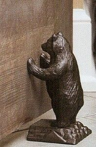 Cast Iron Bear Doorstop & Cast Iron Bear Doorstop | Cabin fever | Door stop Antique doors ...