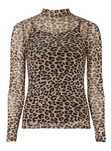 3b227bfa6bc4 Leopard Print Mesh Top | Products | Cheetah print shirts, Tops, Mesh