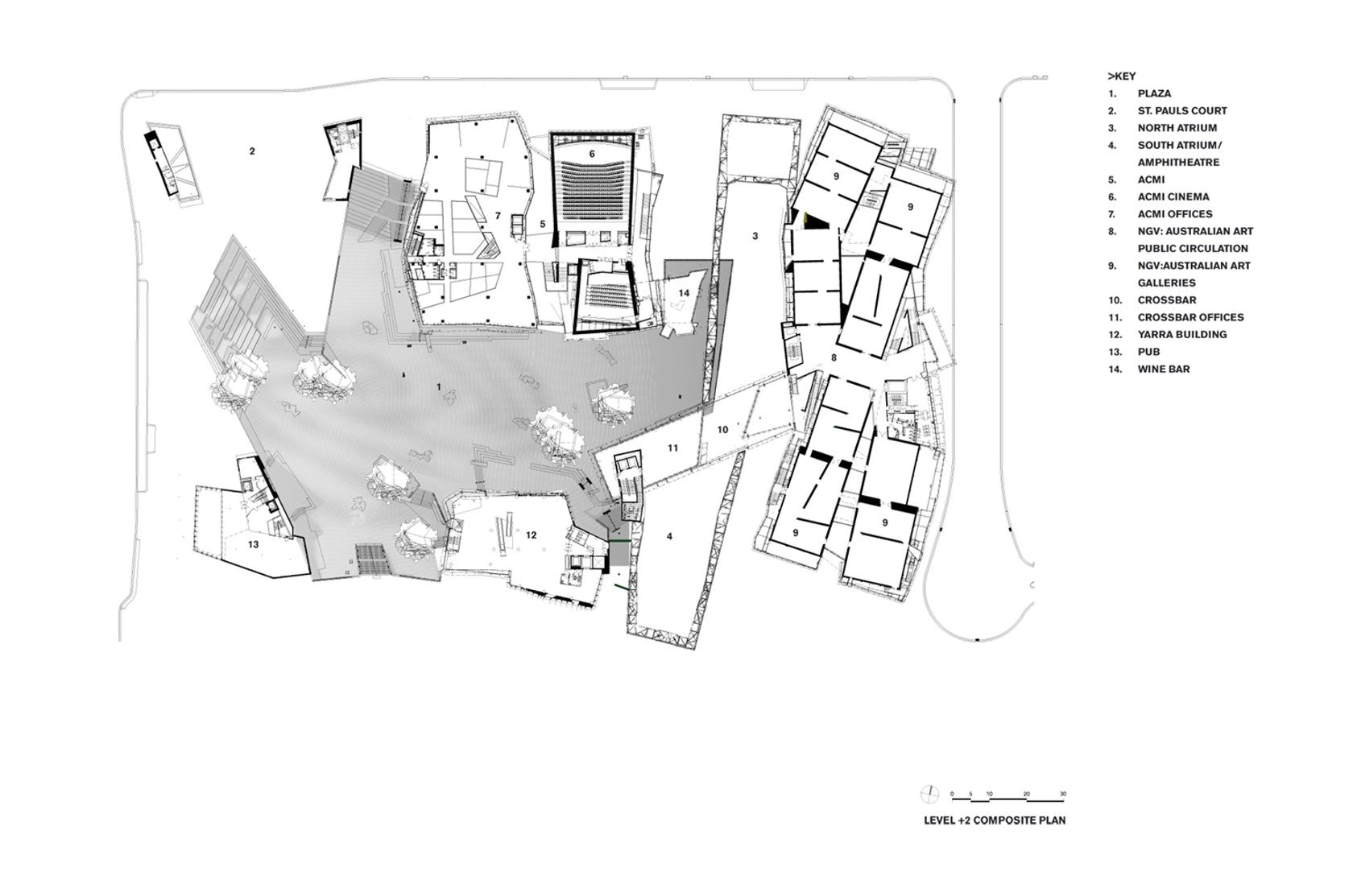 Image Result For Federation Square Plan Architecture Drawing Ground Floor Plan Concept Design